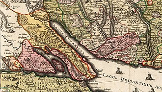Bishopric of Constance - The Bishopric of Constance lying astride the western end of Lake Constance