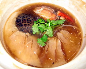 English: whole-shaped Shark fin Stew, Chinese ...