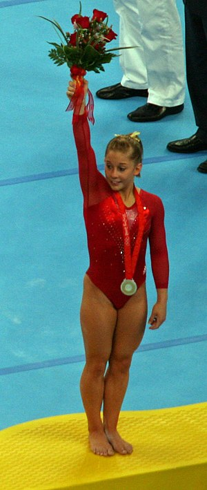 Shawn Johnson East - Johnson winning silver at the 2008 Summer Olympics