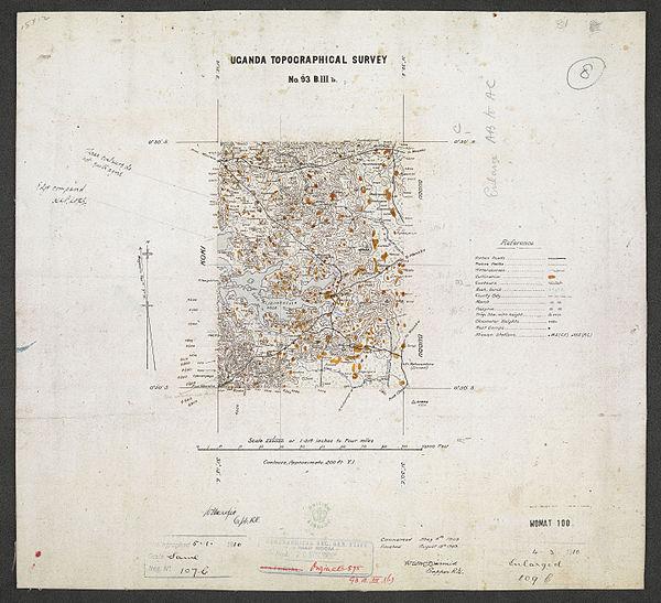600px sheet south a 36 b   war office ledger.uganda topographical survey. %28woos 13 7 8%29