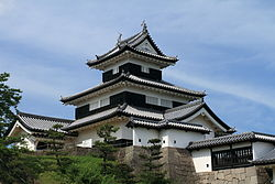 View of Komine Castle in Shirakawa