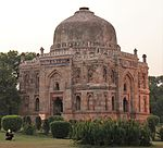 Unknown tomb with blue tiles decoration known as Shisha Gumbad