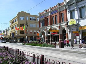 Glen Huntly Road, Melbourne - Shopping strip in Glen Huntly Road, Elsternwick