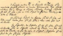 Three paragraphs written in handwriting.