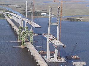 Transportation in Georgia (U.S. state) - Sidney Lanier Bridge, April 2001.