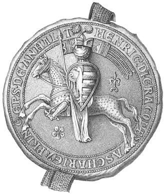 Henry II, Prince of Anhalt-Aschersleben - Seal of Henry II