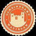 Siegelmarke Gemeindeamt Watislaw W0318874.jpg