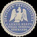 Siegelmarke K.Pr. 6. Armee-Korps stellv. Generalkommando W0345204.jpg