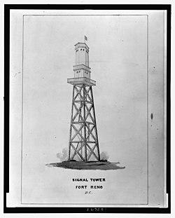 Signal tower Fort Reno D.C. - Lt. J.R. Underdunk(?), U.S.A. del. LCCN2008677142.jpg