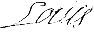 Louis, Grand Dauphin - Image: Signature of Louis, Grand Dauphin in 1695