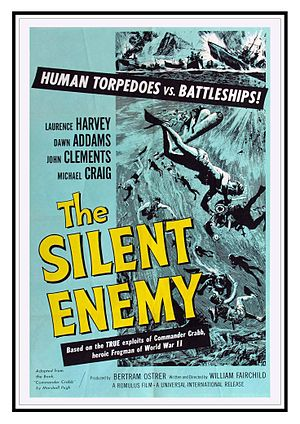 The Silent Enemy (1958 film) - Original US release film poster by Reynold Brown