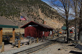 Train station in Silver Plume