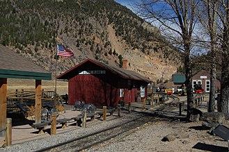 Silver Plume, Colorado - Train station in Silver Plume