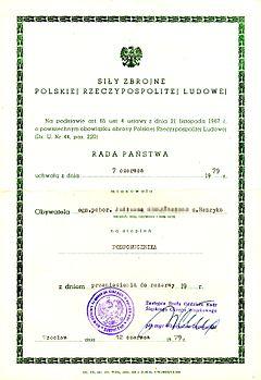 Mianowanie Na Pierwszy Stopień Oficerski Wikipedia Wolna Encyklopedia