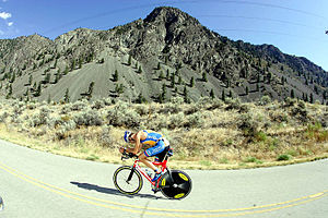 Simon Lessing - Simon Lessing in the bike portion of a triathlon