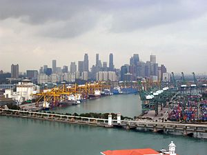 Singapore has one of the busiest ports in the world and is the world's fourth largest foreign exchange trading centre.