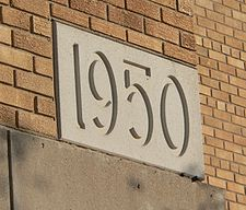 Cornerstone showing the year 1950