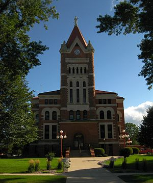 Orange City, Iowa - Sioux County Courthouse in Orange City