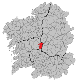 Situation of Rodeiro within Galicia