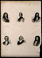 Six men of William III's reign in England. Engraving. Wellcome V0006830.jpg