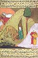 Siyer-i Nebi - Eines der vielen Wunder- Wilde Tiere greifen Muhammad nicht an.jpg