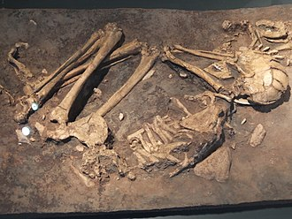 Archaeology of Israel - Skeleton of woman from paleolithic period