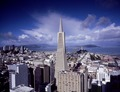 Skyline view of San Francisco, California, with the Transamerica Pyramid as the focus LCCN2011631974.tif