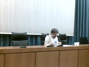 Slavoj Zizek in Athens, 4 October 2007