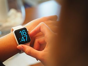 Smartwatch - An Apple Watch on a human's wrist