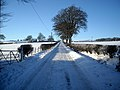Snow Covered Road to Highhill Cottage - geograph.org.uk - 1651540.jpg