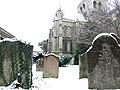 Snowy graveyard at Rochester Cathedral - geograph.org.uk - 1624004.jpg