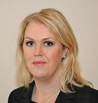 Minister for Health and Social Affairs (Sweden) - Image: Socialdemokrat.Lena Hallengren 1c 301 5973