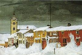 Sohlberg-Etter snestorm. Lillegaten Røros