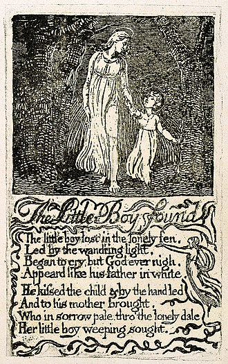 The Little Boy Found - Image: Songs of Innocence, copy U, 1789 (The Houghton Library) object 15 The Little Boy Found