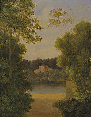 Sophienholm - Sophienholm as it appeared after the rebuilding, painting by J. L. Lund