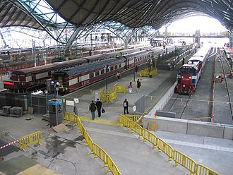 Southern Cross railway station - Construction work inside the station in late 2005