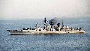 Soviet cruiser Admiral Oktyabrsky Hormuz 1990 color.jpg