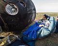 Soyuz TMA-04M Joe Acaba signs the Soyuz capsule.jpg