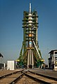 Soyuz TMA-06M rocket is erected into position.jpg