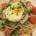 Spaghetti alla carbonara Americano アメリカ風スパゲティ・カルボナーラ.jpg