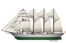 Spanish tallship Elcano
