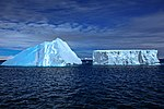 Spectacular Christmas morning cruise through the remants of giant Tabular iceberg B15Y, which is now grounded just off Bransfield Island at the N tip of the Antarctic Peninsula. (25905000011).jpg
