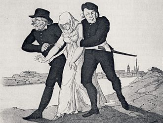 1803 in Sweden - A prostitute taken to the Långholmens spinnhus in the 1800s.