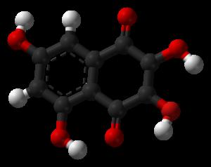2,3,5,7-Tetrahydroxy-1,4-naphthalenedione - Image: Spinochrome B 3D balls