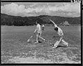 Sports Cricket Scenes. Wanganui vs Wgtn at Petone. PHOTOGRAPHER Unknown DATE January 1949.jpg