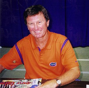 Steve Spurrier - Steve Spurrier on Fan Day, 1999