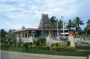 Indians in Fiji - The Sri Siva Subramaniya temple, a South-Indian type temple in the Indo-Fijian town of Nadi.