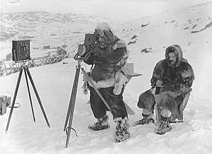 Carl Størmer - Carl Størmer with assistant Birkeland in 1910