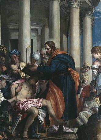 Barnabas - Barnabas curing the sick by Paolo Veronese, Musée des Beaux-Arts de Rouen.