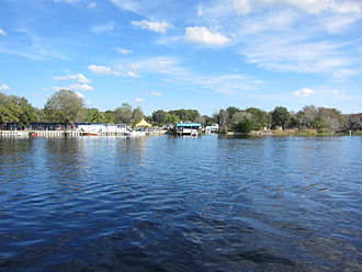 Astor, Florida - St. Johns River at Astor. Across the river is the Astor Marina.